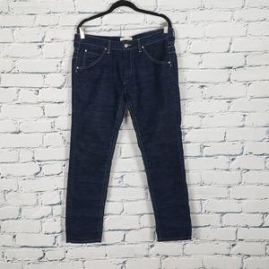 Isabel Marant Etoile Blue and Black Corduroy Pants